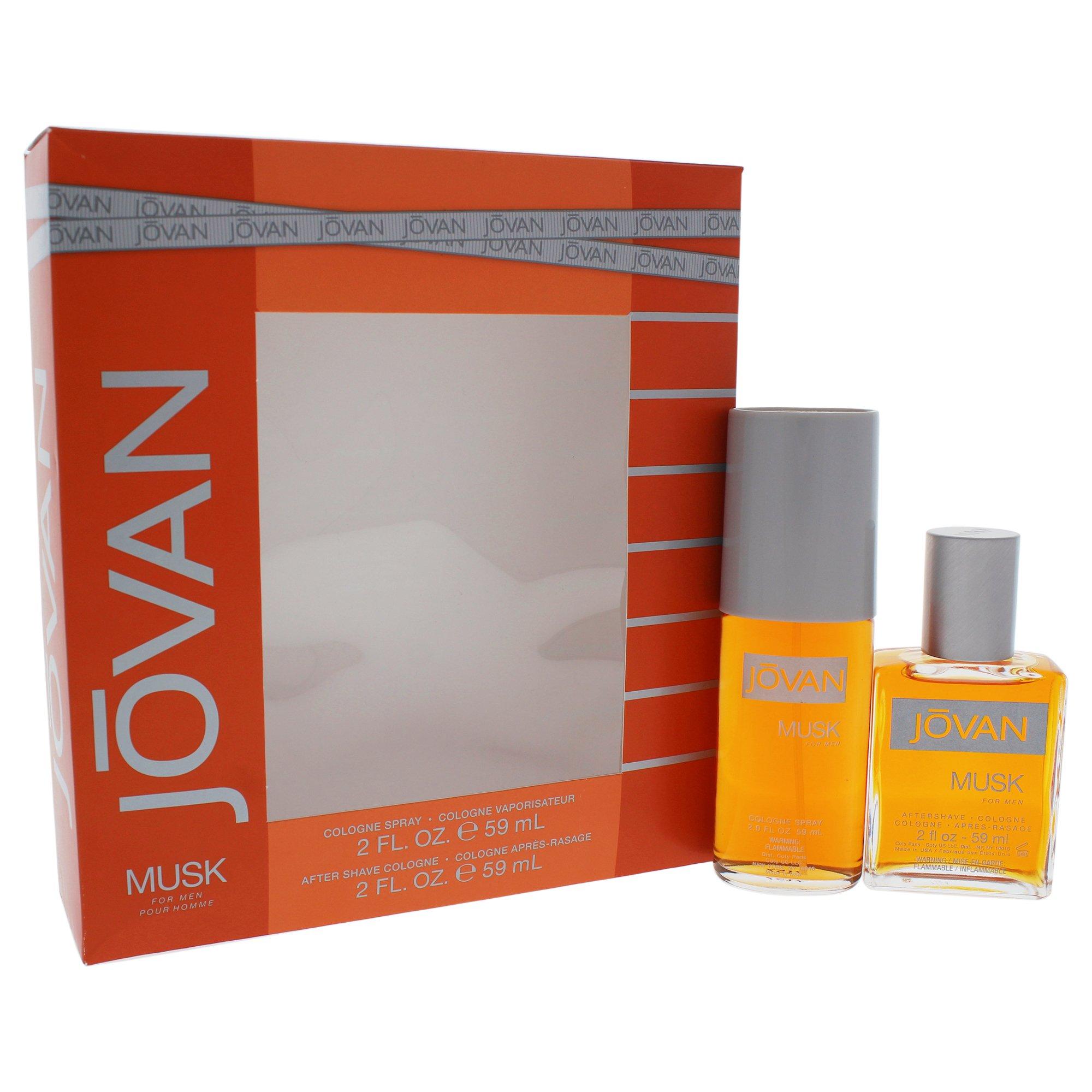 Jovan Men 2pc Set - 2 oz Cologne Spray + 2 oz Aftershave Cologne by Jovan