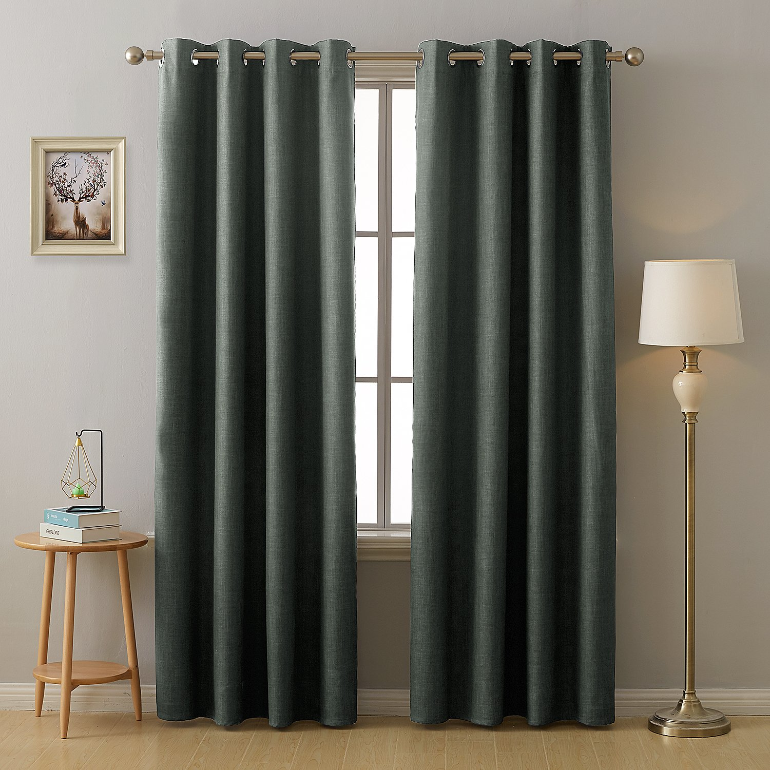 Amazoncom Deconovo Total Blackout Curtains With 3 Pass Energy