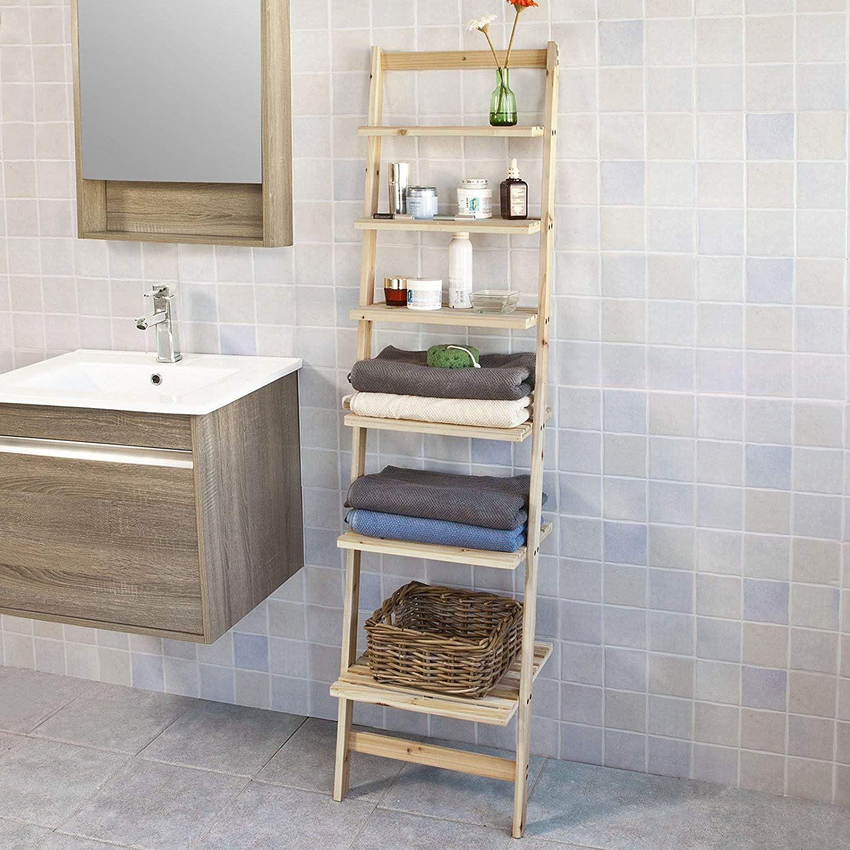 Pleasing Sobuy Frg161 N 6 Tiers Bookcase Ladder Shelf Wall Shelf Interior Design Ideas Clesiryabchikinfo