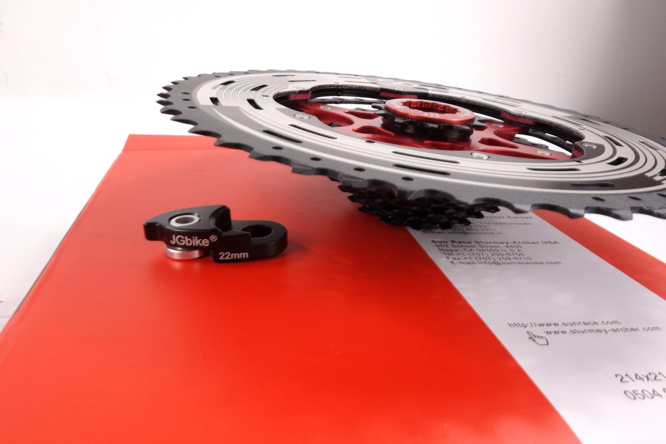 Sunrace 12-speed 11-50T cassette freewheel CSMZ90 WA5 wide ratio MTB in Black with RD extender by JGbike (Image #6)