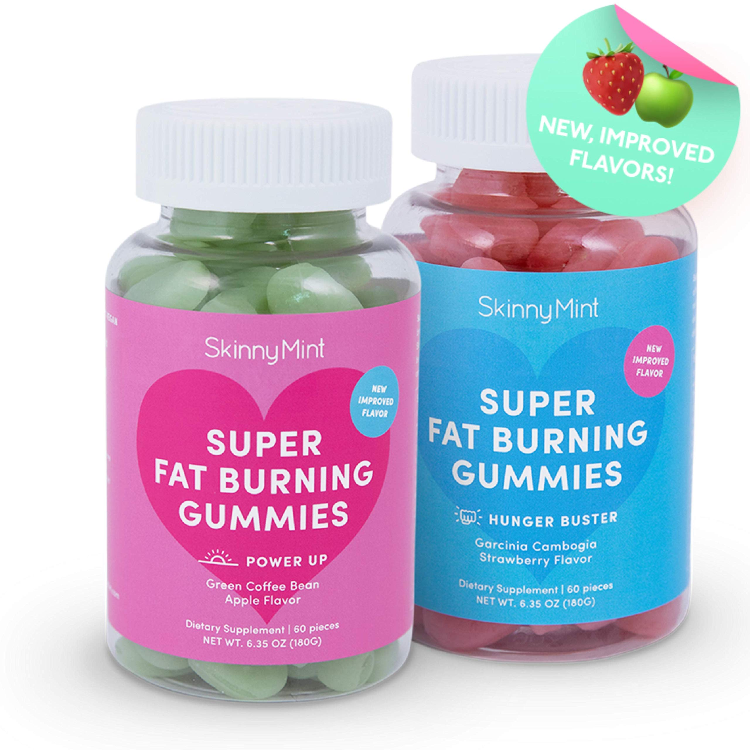 SkinnyMint Super Fat Burning Gummies (120 Gummies). Promotes Weight Loss. Powerful Fat Burner & Appetite Suppressant. Contains Garcinia Cambogia Extract.