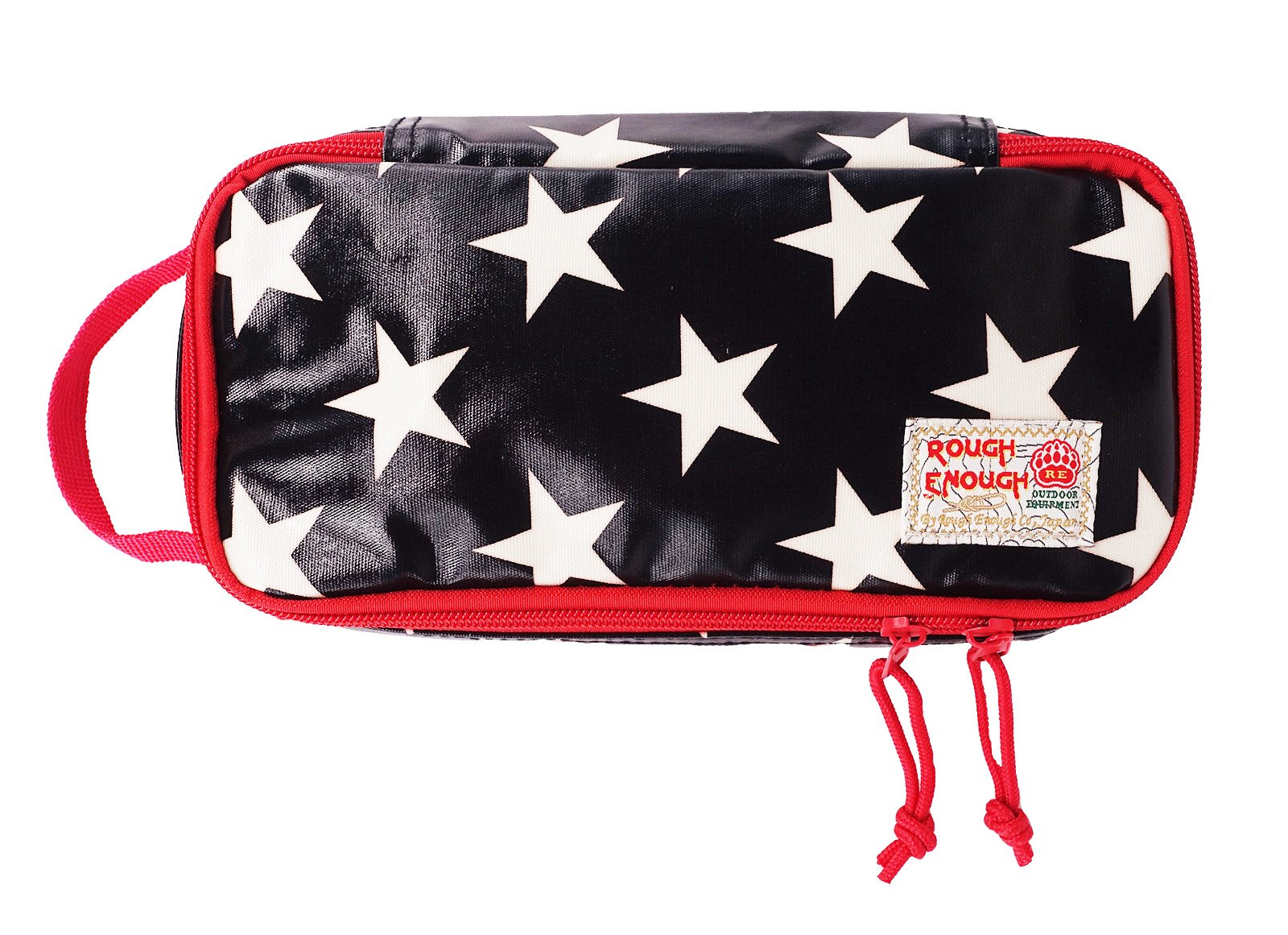 Rough Enough Heavy Duty Glossy Canvas Fashion Star Portable Travel Makeup Pouch Tool Carry Bag Pencil Case Organizer Storage with Zipper for Accessories Supplies of Macbook Cellphone Kids Girls Women
