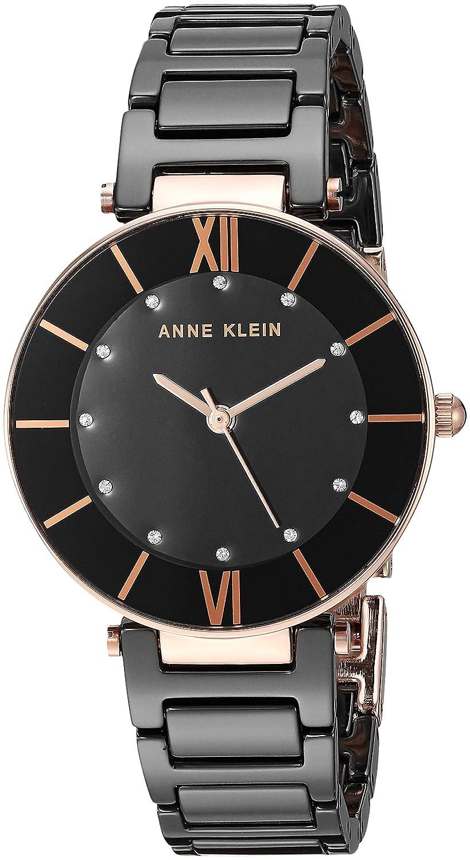 Anne Klein Women s AK 3266 Swarovski Crystal Accented Ceramic Bracelet Watch
