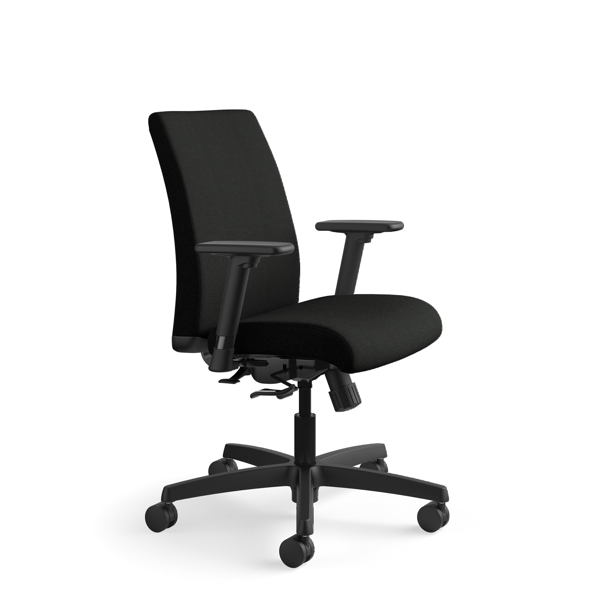 HON Ignition Task Chair - Low Back Chair for Office or Computer Desk, Black (HITL1)