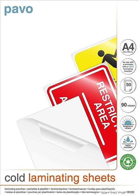 Amazon.com : PAVO Premium A4 Self Cold Seal Laminating ...