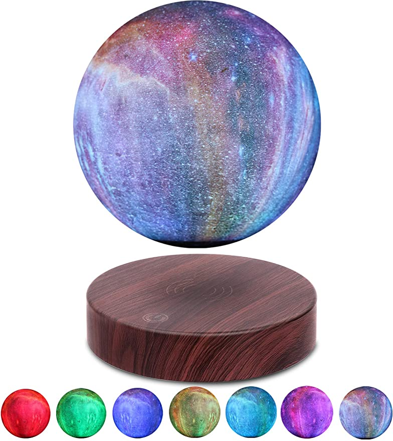 Amazon.com: VGAzer Levitating Moon Lamp Floating and Spinning in Air Freely with Gradually Changing LED Lights Between 7 Colors,Decorative Light for Kids Lover Friends (Round Base): Toys & Games