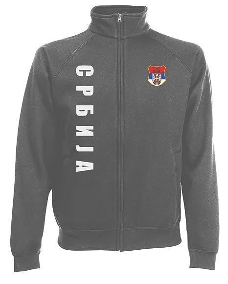 AkyTEX Serbien Serbija Sweatjacke Jacke Trikot Wunschname Wunschnummer