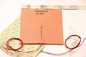 240 X 240mm 120V 600W with 3M PSA & NTC 100K thermistor, KEENOVO Silicone Heater Mat/Pad,3D Printer HeatBed