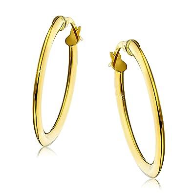 Orovi Woman Hoops Earrings 18 ct /750 White Gold zeEVCwVR2