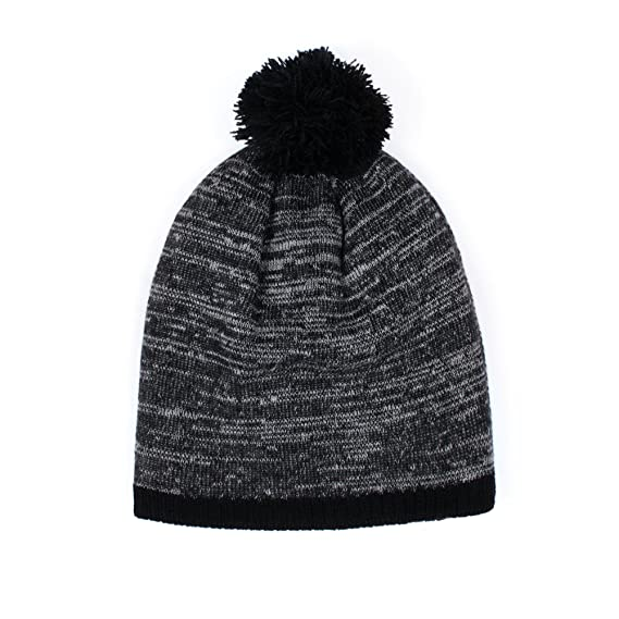 a39a731a39b Japanese Beanie Hat with Pom Pom - Black - Slouchy Style Soft Mens Womens  Unisex Japan Kawaii  Amazon.co.uk  Clothing