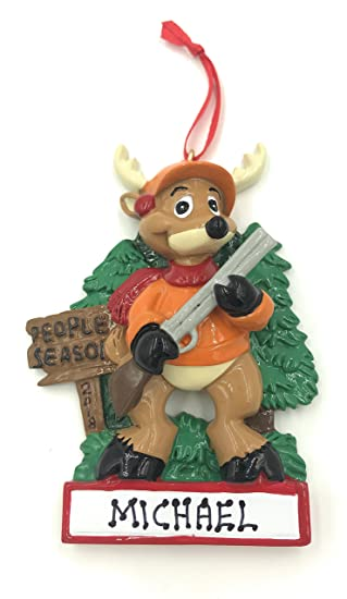Personalized Hunting Hunter Christmas Ornament 2018 Free Personalization