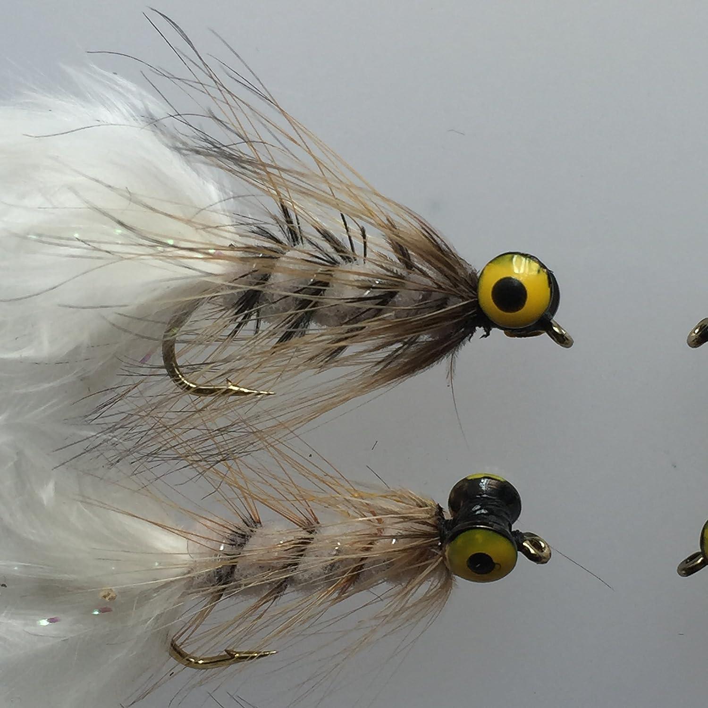 Fliegen Angeln beschwert Hund Nobbler Acht Fliegen wei/ß palmered # 124/W,