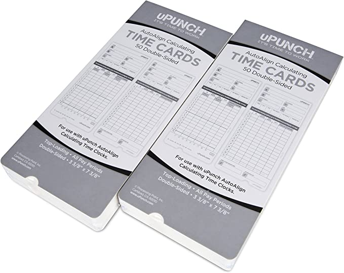 Time Cards for uPunch HN2000 100 uPTC2000-1 Compatible HN4000 AutoAlign