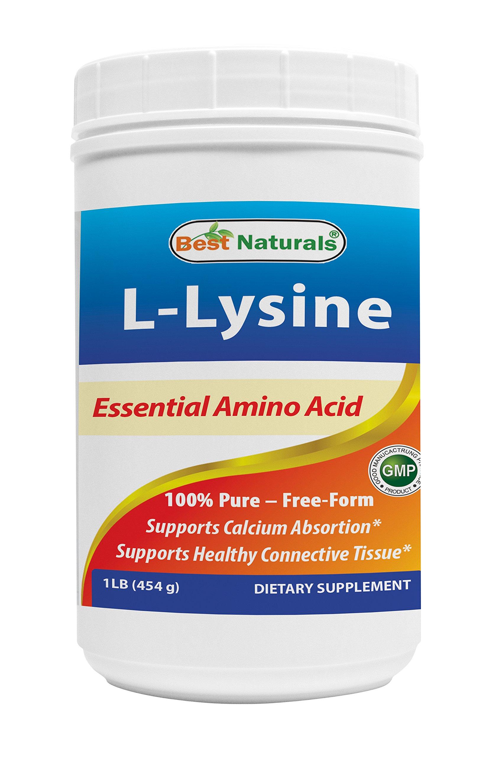 Best Naturals Lysine Powder, 1 Pound - 100% Pure by Best Naturals