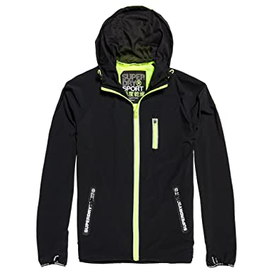 SUPERDRY Sports Active Flash Run Shell Veste Homme JAUNE Taille L ... 6143271f9515
