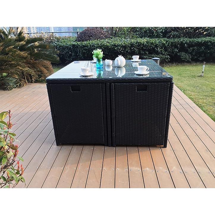 Amazon.de: Das Vito: Lounge Garten schwarz Einbauleuchte aus Harz ...