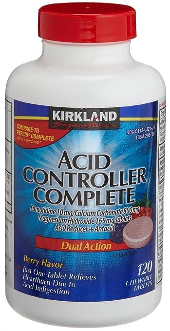 Kirkland Signature Acid Controller Complete Famotidine10 MG/Calcium Carbonate 800MG, Magnesium Hydroxide 165 MG