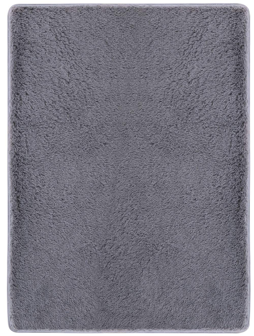 OYRE Modern Simple Ultra Soft Cozy Plush Indoor Area Non-Slip Plus Thick Rugs Fluffy Living Room Carpets Suitable for Children Play Bedroom Home Decor (4' x 5' 2'', Gray)