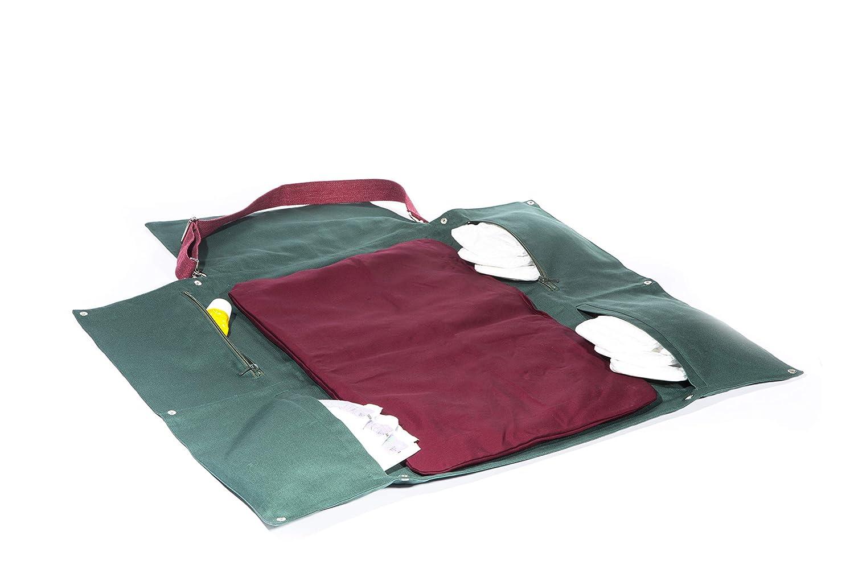 Stylische gro/ße und bequeme Wickeltasche aus nachhaltigem Stoff mit praktischen Innentaschen die perfekte Baby Wickelumh/ängetasche in Gr/ün