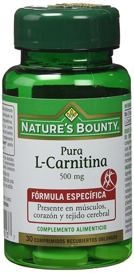 Natures Bounty L-Carnitina 500 Mg - 30 Comprimidos