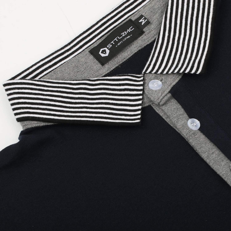STTLZMC Hombre Camisetas y Polos Mangas Largas Casual Cuello en ...