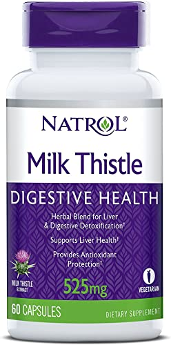 Natrol Milk Thistle Advantage V-Caps, 525mg, 60 Count