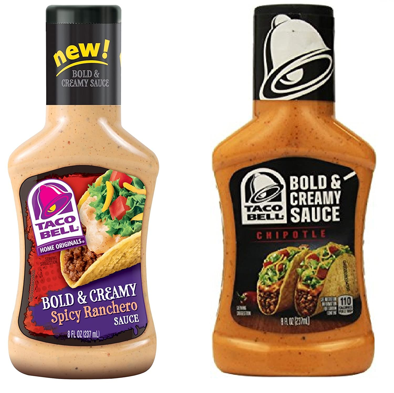 Kraft Taco Bell Bold & Creamy Spicy Ranchero & Chipotle Sauce Bundle