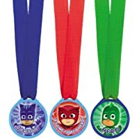 "amscan 398382 ""PJ Masks Mini Award Medals, Party Favor"