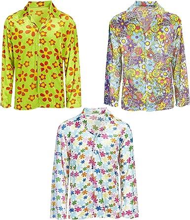 WIDMANN Camisa hippie colorida para adulto
