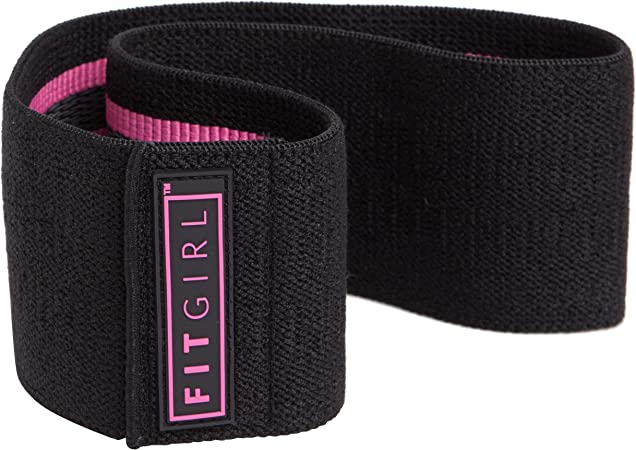 FITGIRL - The Best Resistance Thick Hip Bands for Women, Exercise Band for Working Out Your Booty and Legs, Workout at Home or The Gym, Fitness Fabric Loop Band, Elastic Soft Non Slip Design