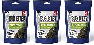Fluval (3 Pack) Bug Bites Bottom Feeder Pleco Formula for Medium to Large Fish