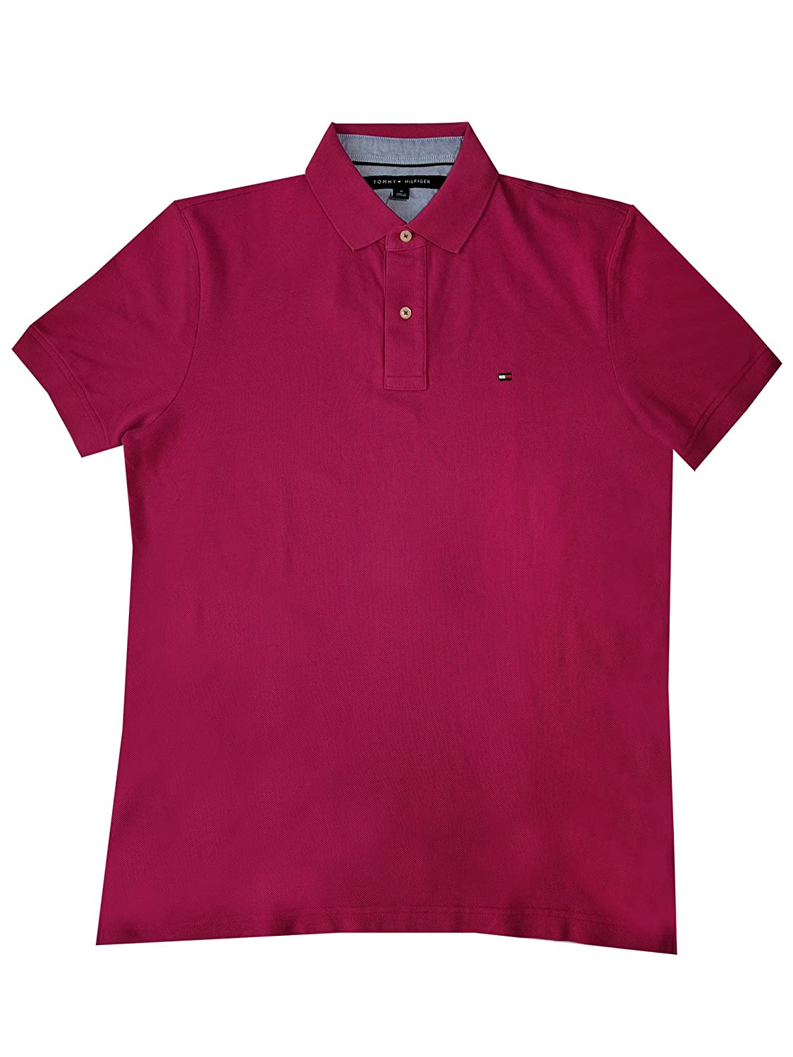 c4491a90 Tommy Hilfiger Mens Custom Fit Solid Color Polo Shirt at Amazon Men's  Clothing store: