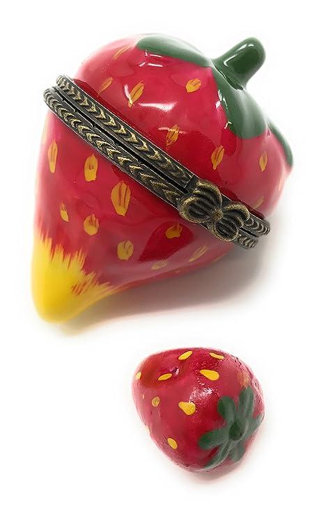 Fresa Berry Patch caja con forma de tapa con bisagra caja Phb