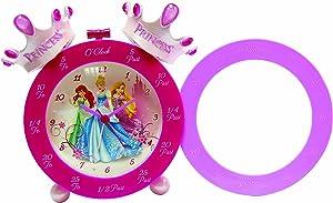 Disney Princess Crown Time Teaching Alarm Clock, Pink