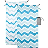 "Crisbrella Double Sided Microfiber Beach Towel - Oversized 31"" x 63"", Ultra Soft, Super Absorbent, Quick Dry for Travel-Beach, Lake, Pool, Outdoor Comfort Compact and Portable Beach Blanket"