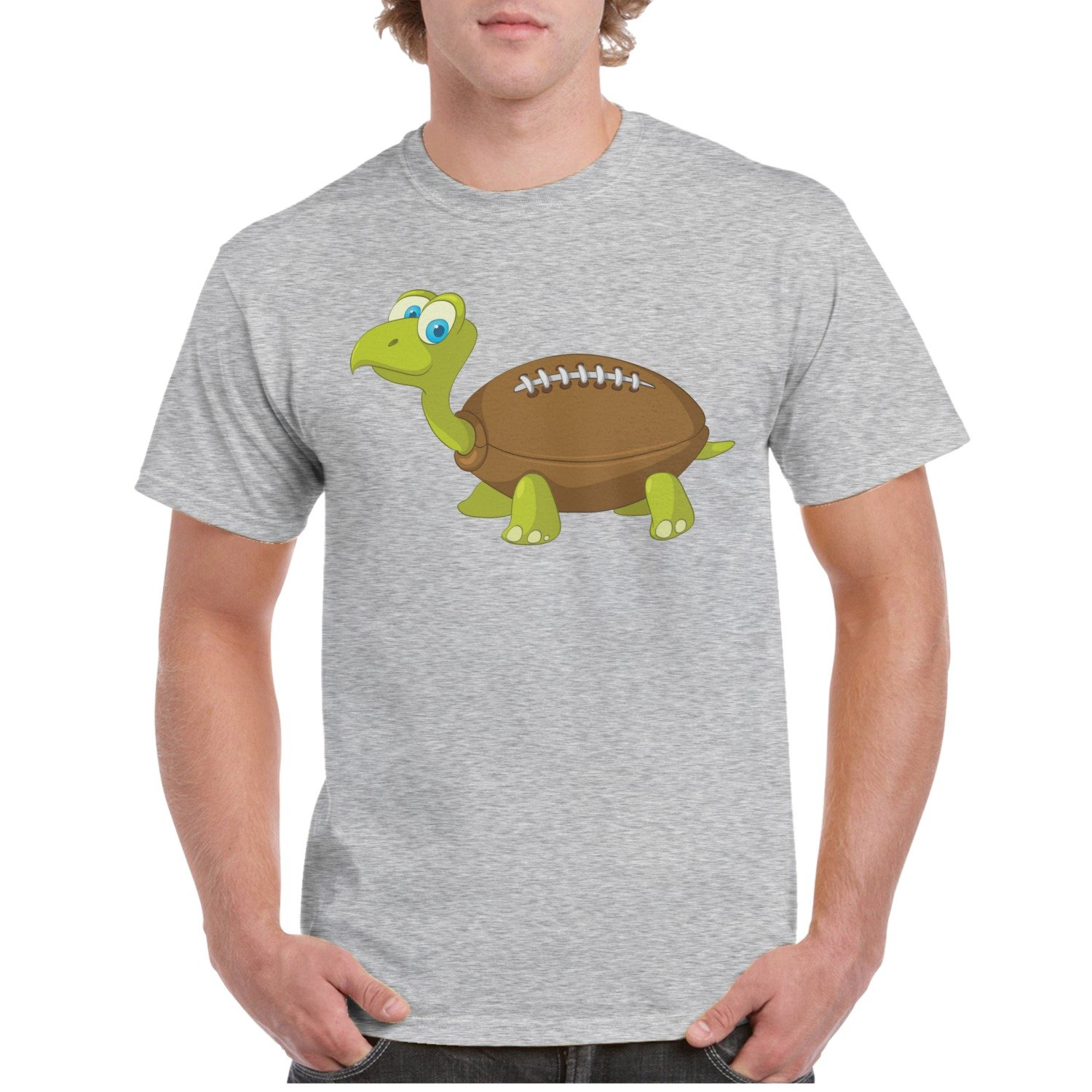 Amazon Cartoon Character Turtle Rugby Grey Custom T Shirts For