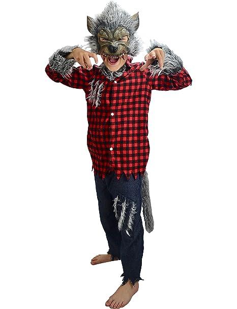Little Babas Disfraces Traje de Halloween de Hombre Lobo Werewolf 6-8 años