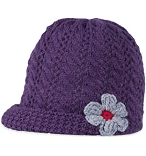 25559572bdf Everest Designs Girls 15004 Flower Child Earflap Hat White One Size everest-designs  15004-K