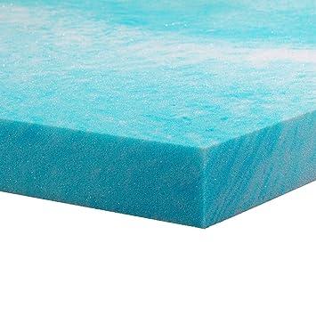 gel memory foam mattress topper king size 2 inch thick gel