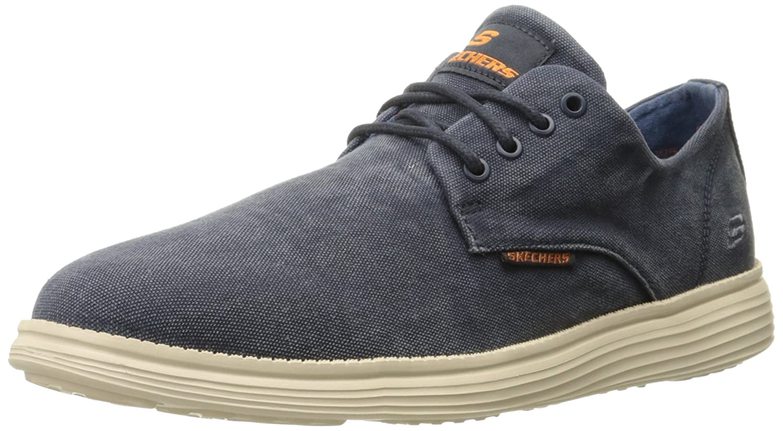 62be0fb856e3 Skechers Men s s Status- Borges Low-Top Sneakers  Amazon.co.uk  Shoes   Bags
