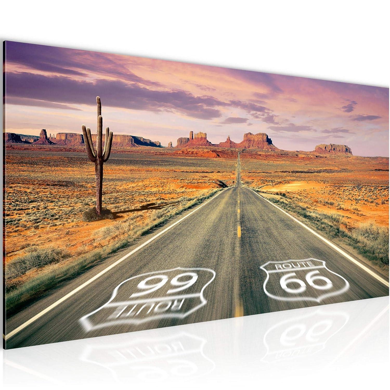 pr/êt /à accrocher 611356a Photo Route 66 Grand Canyon D/écoration Murale 150 x 60 cm Toison 100/% MADE IN GERMANY Taille XXL Salon Appartement D/écoration Photos dart Orange 5 Parties