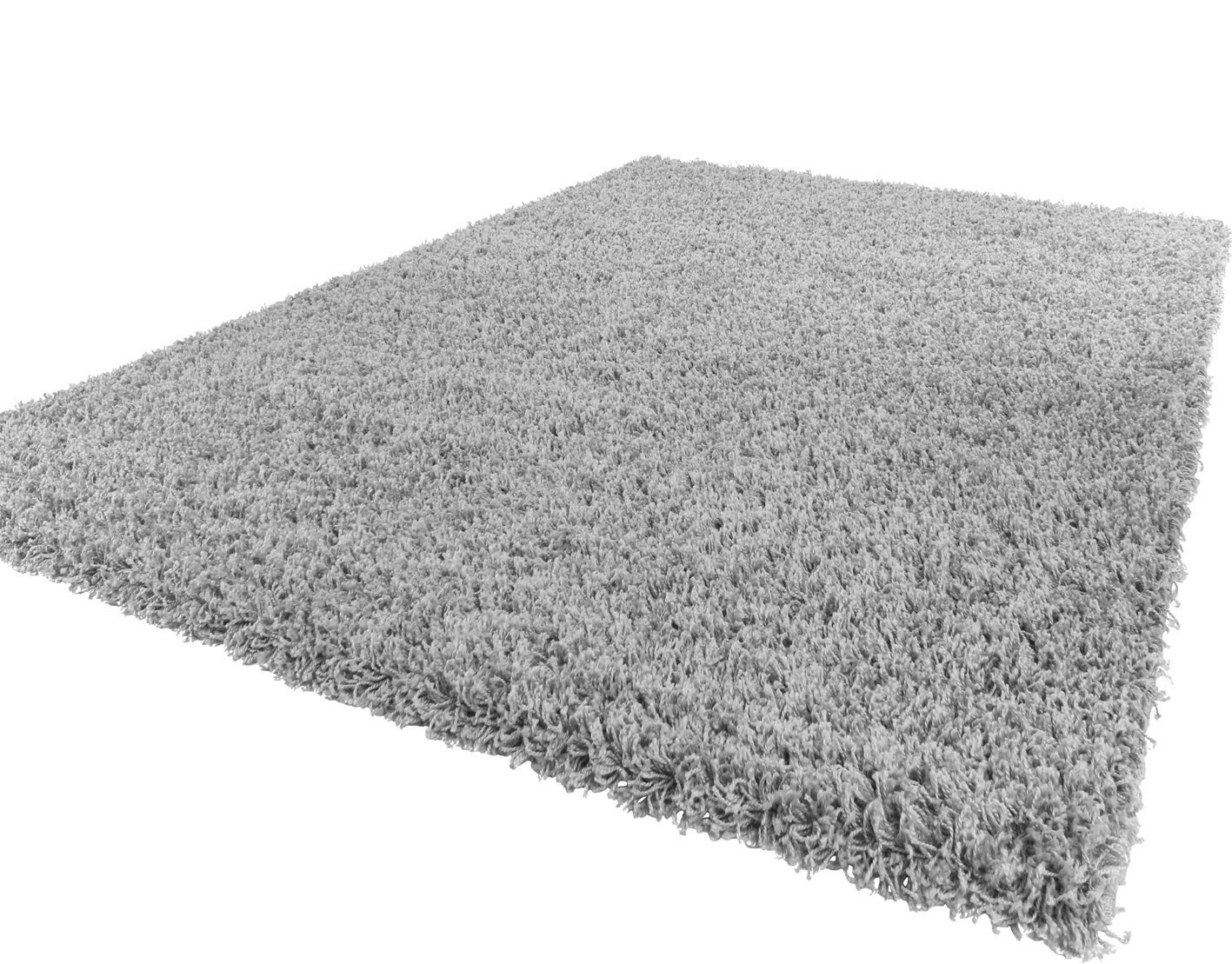 Lord of Rugs Soft Shaggy Silver Grey Modern Thick Rug 8 60 x 100 cm (2' x 3'3'')