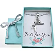 "Little Girls I love gymnastics necklace in silver toned metal on a 14"" silver stainless steel cable chain with 2"" extender. Little girls jewelry. Gymnastics."