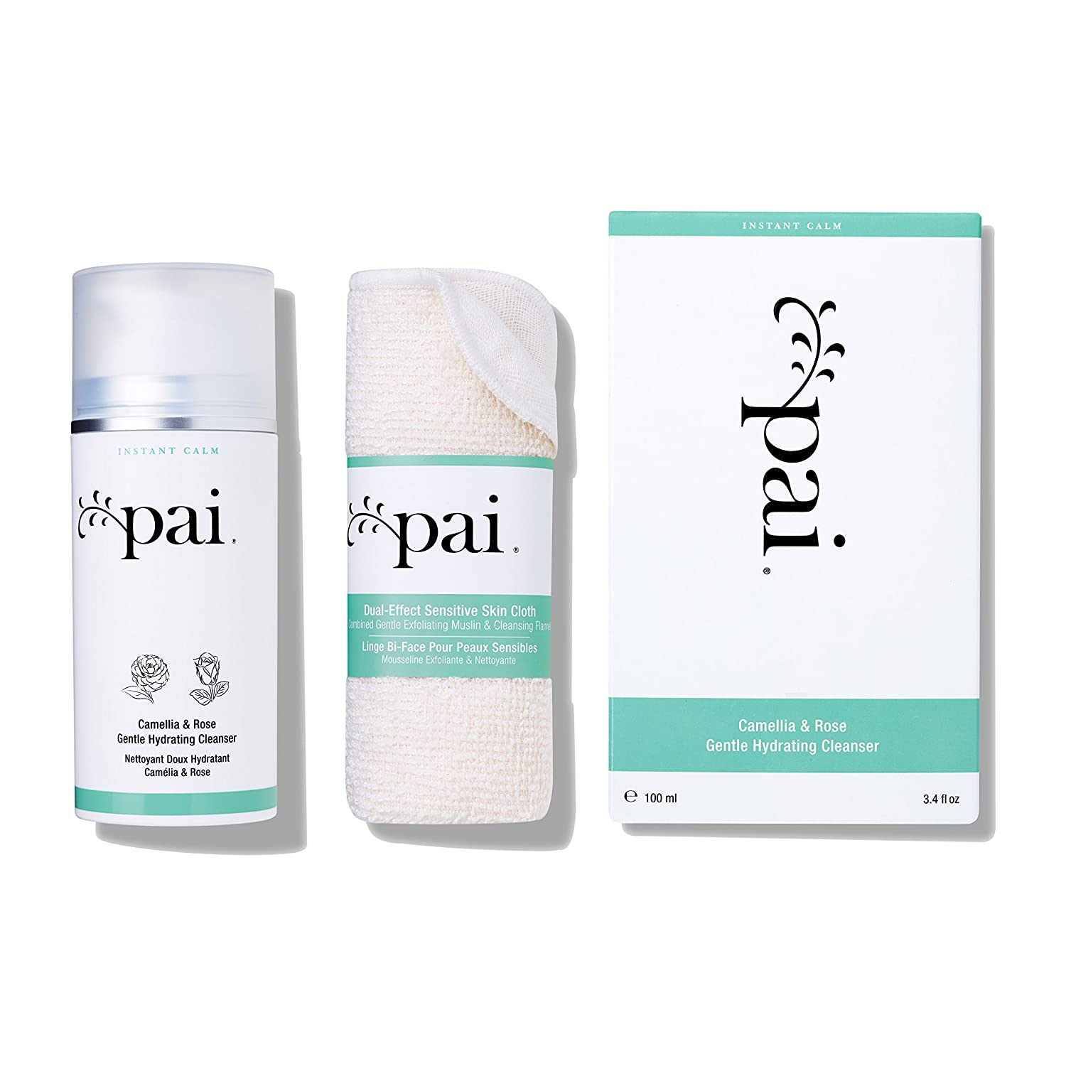 Pai Skincare Organic Gentle Hydrating Camellia & Rose Cleanser for Sensitive Skin with omega 3 and vitamins A, B, C & E 100 ml