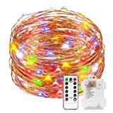 Amazon Price History for:Colored Battery String Lights with Remote, Kohree Dimmable Starry Rope Lights,33Ft Flexible Copper Wire, Multi-color 100 LEDs Fairy Lights, Perfect for Weddings, Party, Bedroom,Holiday Decorations
