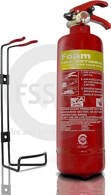 T 1/Liter AFF SCHAUM Feuerl/öscher CE-gekennzeichnet mit 5/Jahre Garantie /& 42/teilig 1.-Hilfe-Set ideal f/ür Autos bevollm/ächtigt und durch FSS UK Plus zertifiziert Mini BUSSE Erste Hilfe und Feuerschutz-Set f/ür Autos