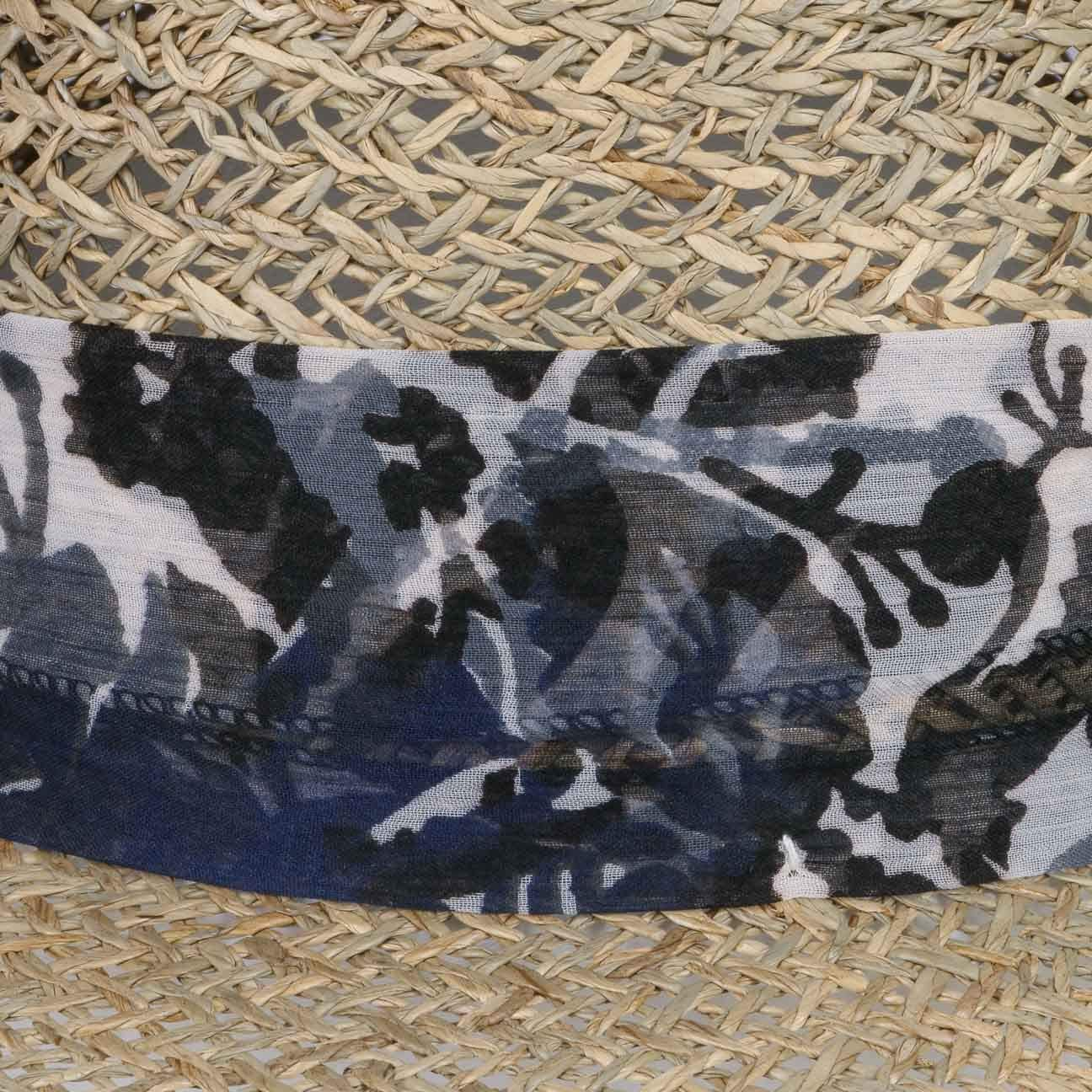 Lierys Seagrass Strohhut mit Stoffband Damen Sonnenhut mit Stoffband und Schleife Strandhut Fr/ühjahr//Sommer Sommerhut Made in Italy