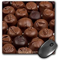 3dRose 8 x 8 x 0.25 Inches Mouse Pad, Chocolate Diet Truffles (mp_6012_1)