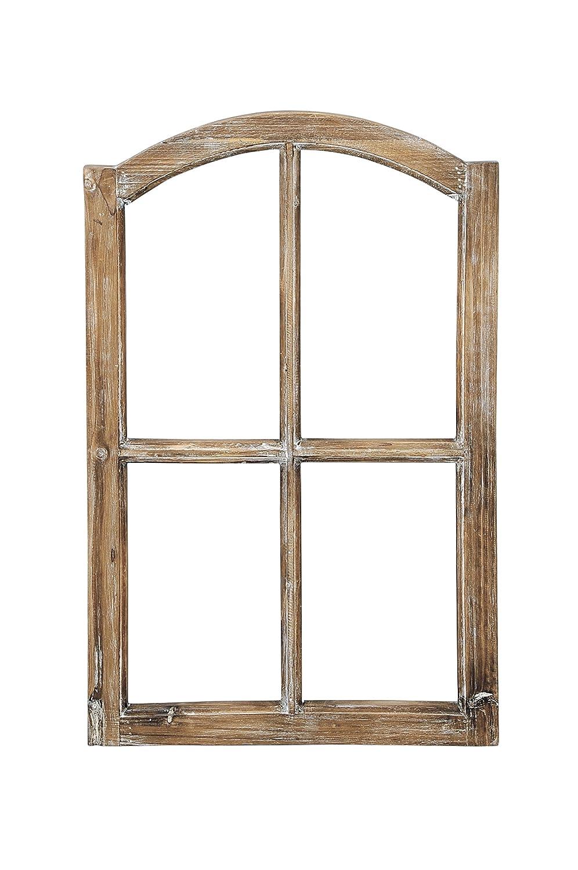 Amazon.de: Deko-Fensterrahmen Holz- Rahmen Fenster-Attrappe Holz ...