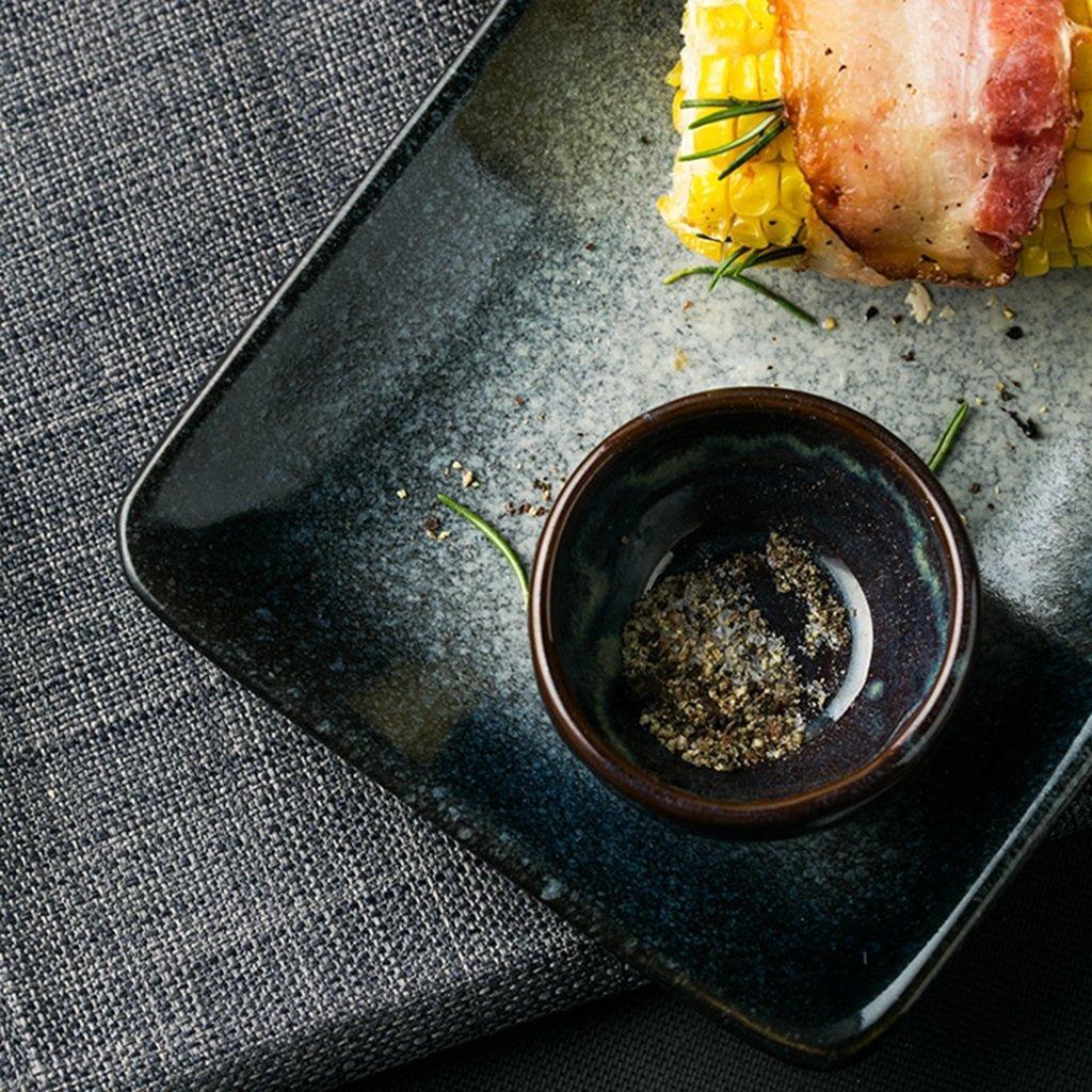 He Xiang Ya Shop Long Plate Dish Steak Plate Dessert Plate Japanese Ceramic Sushi Plate Household Flat Plate Fruit Plate by He Xiang Ya Shop (Image #4)